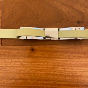 Ted Baker mint green belt with chrome metal bow